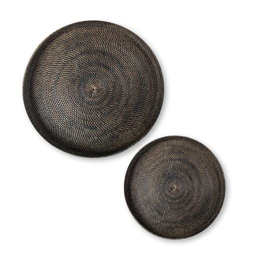 Χειροποίητος στρογγυλός δίσκος από rattan