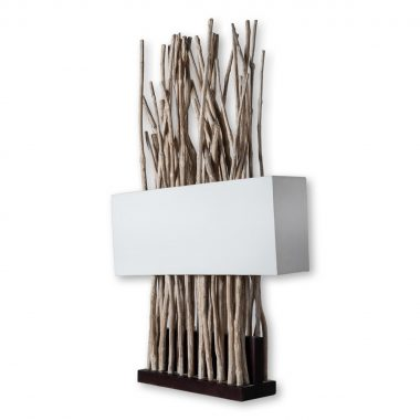 upreme space,επιτραπεζιο φωτιστικο,φωτιστικο με ξυλα