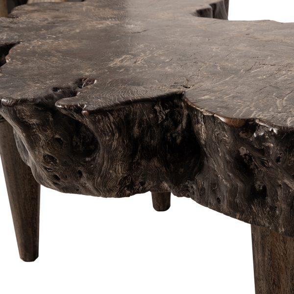 Τραπεζάκι από μασίφ ξύλο, τραπεζάκι από μασίφ ξύλο grey wash,Τραπεζάκι Από ρίζα μασίφ ξύλο